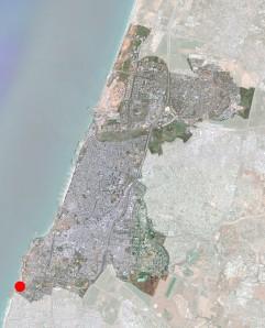 tel aviv-jaffa - satellite image