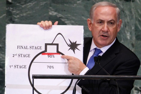 netanyahu - red line abc news