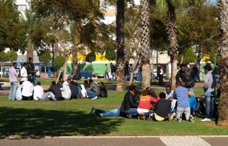 african asylum seekers in tel aviv´s levinsky park