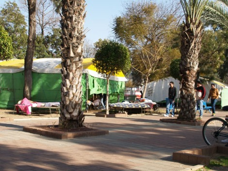 immigrant´s tents in levinsky park