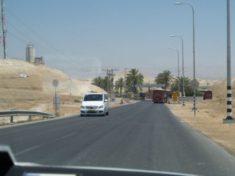 approaching israeli border station