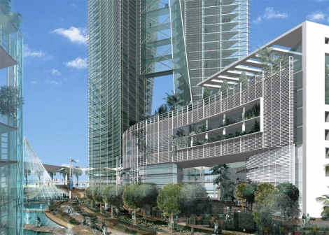 abdali rendering glass and green spaces