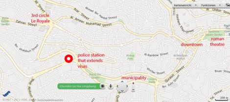map - police station that extends visas