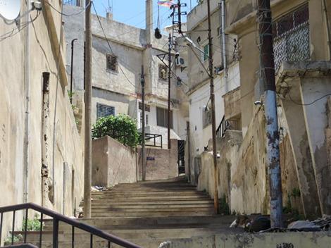 stairway on jabal ashrafiyya